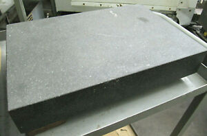 18 x12 Black Granite Surface Plate Great Condition Inspection Equipment