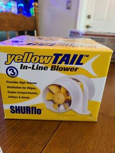 Shurflo Yellowtail 3 Marine Blower 12v 120 Cfm Waterproof 277 3110