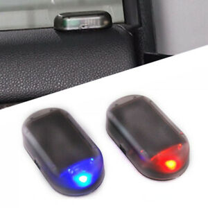 Fake Solar Auto Car Alarm Light Led Warn Security System Theft Accessoties