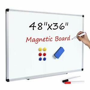 T sign Magnetic Dry Erase Whiteboard 48 X 36 Inch 4 X 3 Large White Board