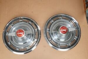 2 1966 Buick Special 14 Spinner Hubcaps Wheel Covers Hub Caps Rat Hot Rod