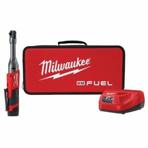 Milwaukee M12 Fuel 1 4 In Extended Reach Ratchet W 1 Cp2 0 Battery Kit New