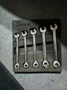 Snap On Tools Flare Nut Open End Wrench 6 Point Set 10 14 Mm Metric Line