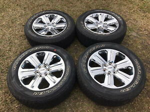 2004 2021 Ford F150 Expedition 20 Alloy Wheels Tires Lugs Oem Chrome