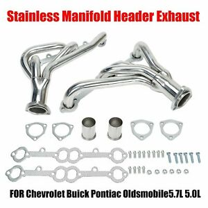 Small Block Stainless Exhaust Header For Chevy Camaro 5 0l 5 7l 305 350 V8 Cid
