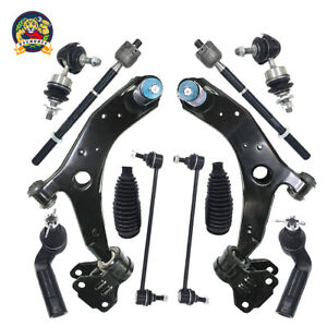 12pc Front Lower Control Arm Ball Joint Tie Rod For 2010 2011 2012 2013 Mazda 3
