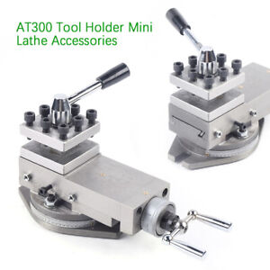 upgrade 1 at300 Lathe Tool Post Assembly Holder Metal Mini Lathe Part Equipment
