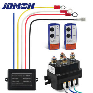 Wireless Winch Solenoid Relay Remote Control Winch Contactor Fit For Atv Jeep