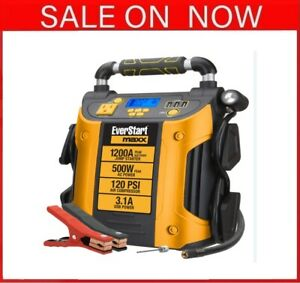 New Jump Starter And Power Station 1200 Peak Battery Amps With 500w Inverter