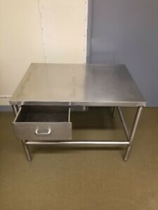 Stainless Steel Table Sanitary Welds 304 Ss With One Drawer