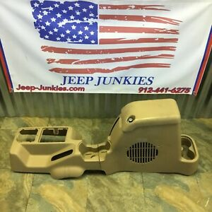 97 02 Jeep Wrangler Tj Center Console Subwoofer Full Length Saddle Tan