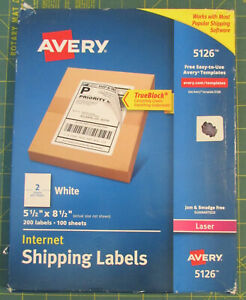 Laser Shipping Labels perforated 5 1 2 x8 1 2 100 Shhets 2 Per Page 200