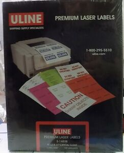 Uline Laser Mailing Address Label Full Sheet 8 5x11 Crystal Clear Avery 8665