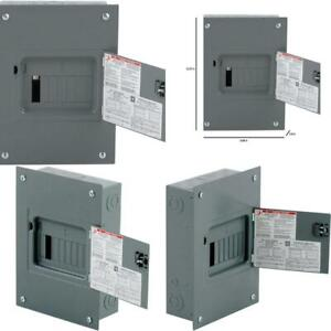 Qo 100 Amp 8 space 16 circuit Indoor Flush Mount Main Lug Load Center With Cover