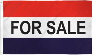 For Sale Flag Banner 3x5 Ft Business Advertising Sign Red White Blue Grommets