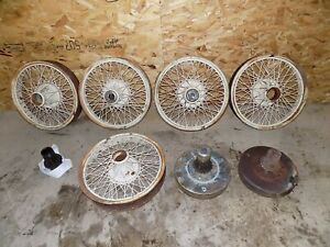 Vintage Buffalo 20 Steel Spoked Wheels Speedster Oakland Cadillac Model T Ford