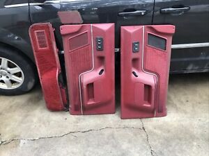 1988 Ford F 150 Door Panels Red