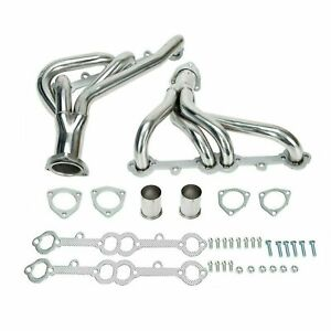 Exhaust Header For Chevy Camaro 5 0l 5 7l 305 350 V8 Cid Small Block Stainless