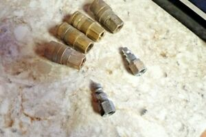 Lot Of 4 Milton Brass 3 8 Push lock Air Compressor Couplers 3 8 Fittings