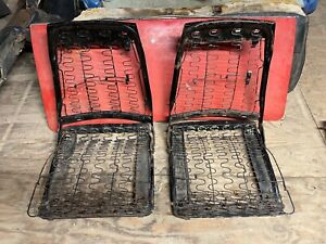1967 Dodge Charger Front Bucket Seat Fold Down Bottom Back Frames Left Right 67