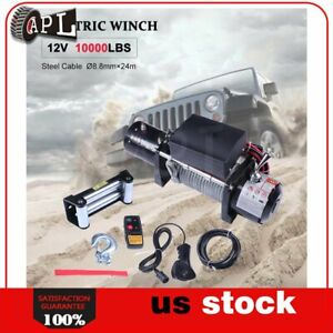 1x Electric Winch Steel Cable 12v Truck Trailer Tow 4wd Off Road 1pcs 10000lb