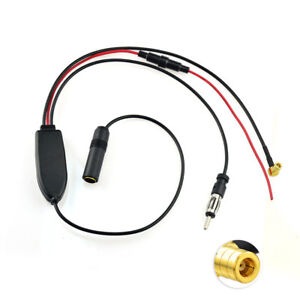 Active Am Fm Dab Antenna Splitter Auto Aerial Converter Aftermarket Replacement