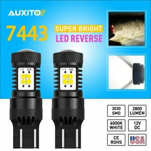 2x Auxito ultra Bright White 7443 7440 14 smd Backup Reverse Lights Drl Bulbs