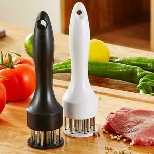 Professional Meat Tenderizer With Stainless Steel Needle Prongs Kitchen Tool New