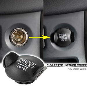 Car Cigarette Lighter Power Socket Outlet Plug Cover Auto Cap Universal 12v