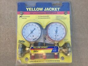 Yellow Jacket 41212 Refrigerant Manifold Gauges R12 22 502 Freon