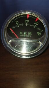 Vintage Sun Electric Engine Tachometer Tach Rc 4 A 4000 Rpm Eb Or Wb