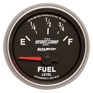 Autometer 3613 Sport comp Ii Electric Fuel Level Gauge