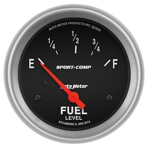 Autometer 3514 Sport comp Electric Fuel Level Gauge