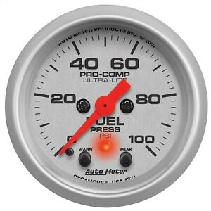 Autometer 4371 Ultra lite Electric Fuel Level Gauge