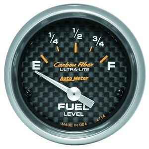 Autometer 4714 Carbon Fiber Electric Fuel Level Gauge