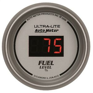 Autometer 6510 Ultra lite Digital Programmable Fuel Level Gauge