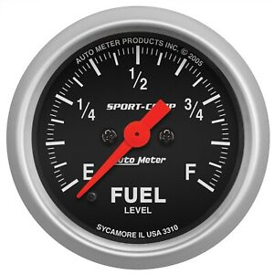 Autometer 3310 Sport comp Electric Fuel Level Gauge