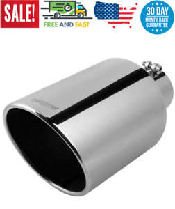 Upower Diesel 4 Inlet To 8 Exhaust Tip 304 Mirror Polished Exhaust 15 Cut