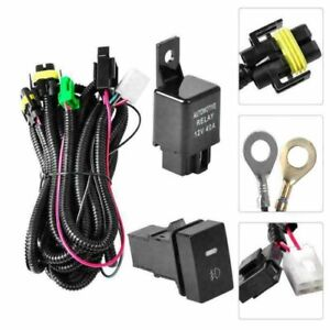Relay Wiring Harness Switch Wire For Nissan Add On H11 Fog Light Hid Led Drl