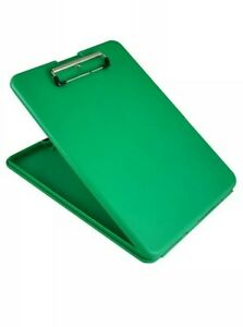 Saunders 00561portable Storage Clipboard Green Fits 8 5 x12
