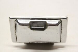 Original 1950 S Dash Or Rear Seat Chrome Ashtray W Black Knob Chevy Ford Dodge