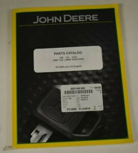 Pc1699 John Deere Parts Catalog For 108 111 111h And 112l Lawn Tractors