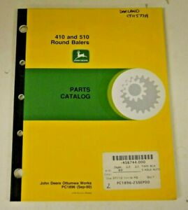 Pc1896 John Deere Parts Catalog For 410 And 510 Round Balers