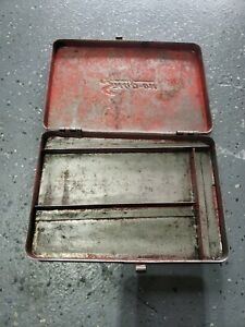 Snap on On Tools Empty Metal Vintage Tool Box Kra275 Made In Usa