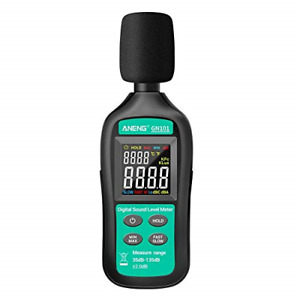 Decibel Meter 2 in 1 Mini Digital Noise Meter And Ambient Temperature Tester Db