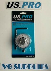 Us Pro Tools 1 2 Dr Torque Angle Gauge Wrench For Ratchet Bar New 6796