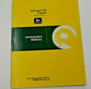 Omm95326 John Deere Operator s Manual For 670 And 770 Tractor