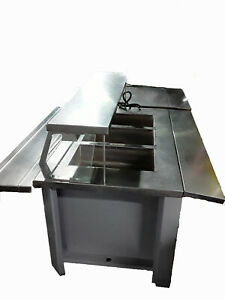 Commercial Stainless Steel Electric Hot Buffet Steam Table Plus Cart