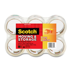 Scotch 3m Storage Packing Tape 6 Rolls Long Lasting Moving