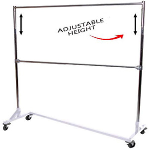 Industrial Strength Adjustable Height Z Rack Portable Closet 63 In W X 84 In